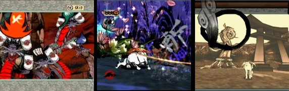 screen caps of Okami
